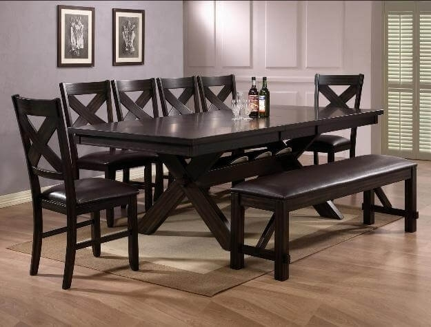 Havana Dining Set With Benchcrown Mark With Regard To Havana Dining Tables (Image 9 of 25)