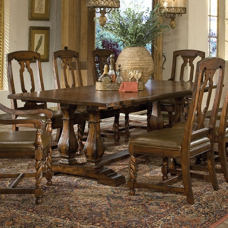 Havana Double Pedestal Dining Table Hekman | Furniture Cart Pertaining To Havana Dining Tables (Image 14 of 25)