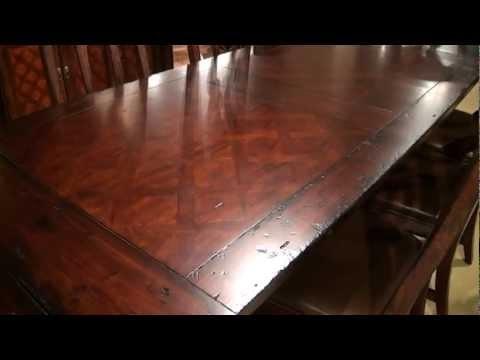 Havana Rectangular Trestle Dining Tablehekman Furniture | Home Intended For Havana Dining Tables (Image 15 of 25)