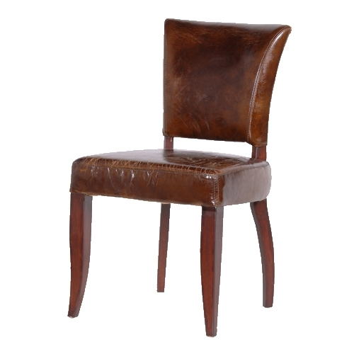 Have Brown Leather Dining Chairs To Enhance Your Dining Room – Home Within Brown Leather Dining Chairs (Image 16 of 25)