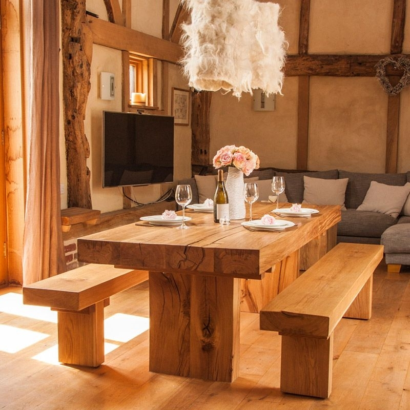 Have It Straight Chunky Solid Oak Dining Table for Oak Dining Tables