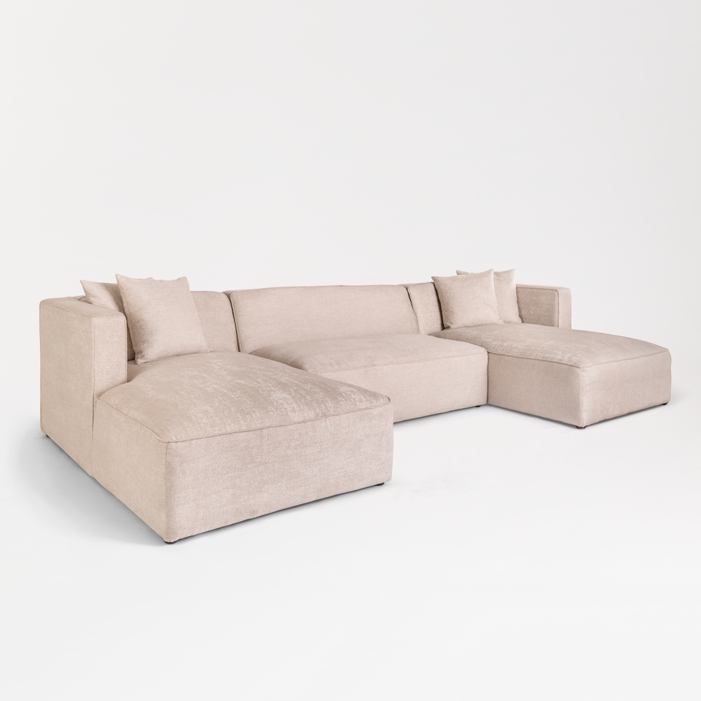 Haven U Shape Sectional – Alder & Tweed Furniture Intended For Haven 3 Piece Sectionals (View 13 of 25)