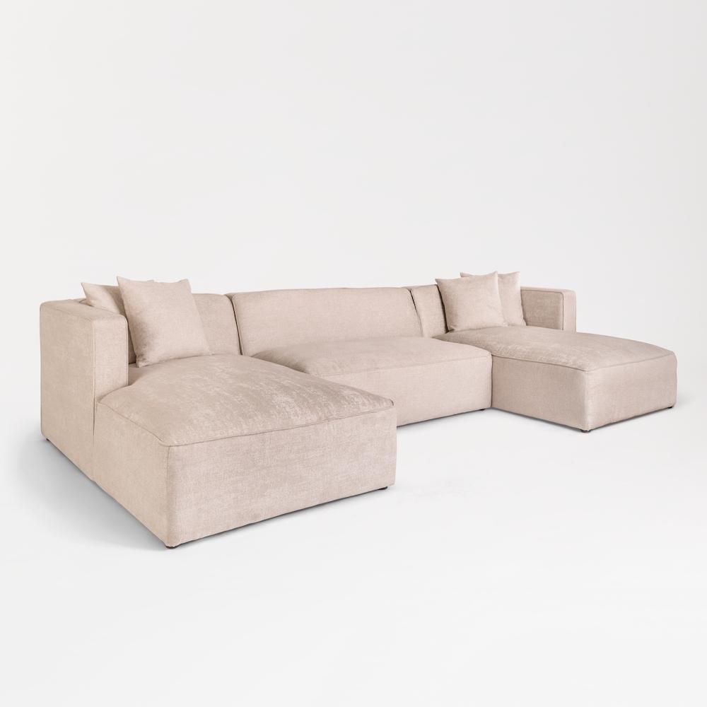 Haven U Shape Sectional – Alder & Tweed Furniture Intended For Haven 3 Piece Sectionals (Image 14 of 25)
