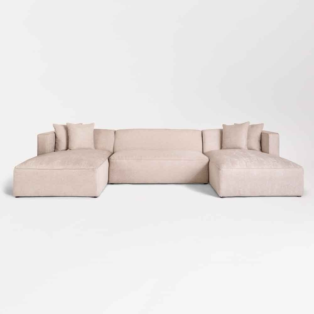Haven U Shape Sectional At10313 Cnt Birch Wood With Haven 3 Piece Sectionals (View 20 of 25)