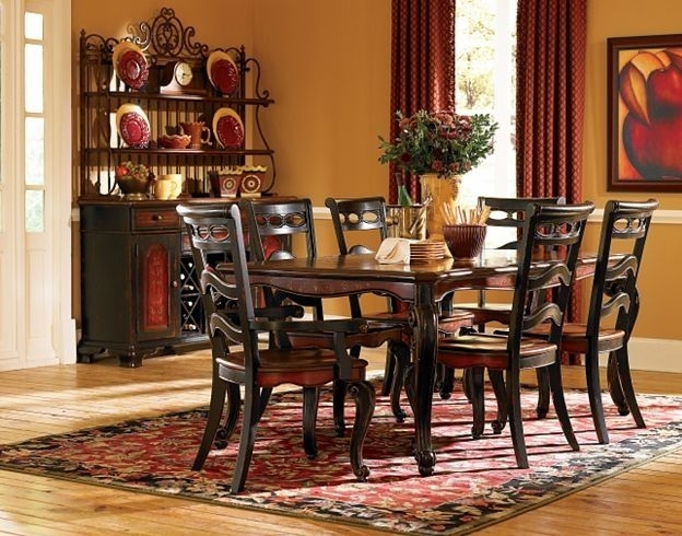Havertys Dining Room Sets - Beaujolais Dining Rooms | Havertys intended for Bale 7 Piece Dining Sets With Dom Side Chairs