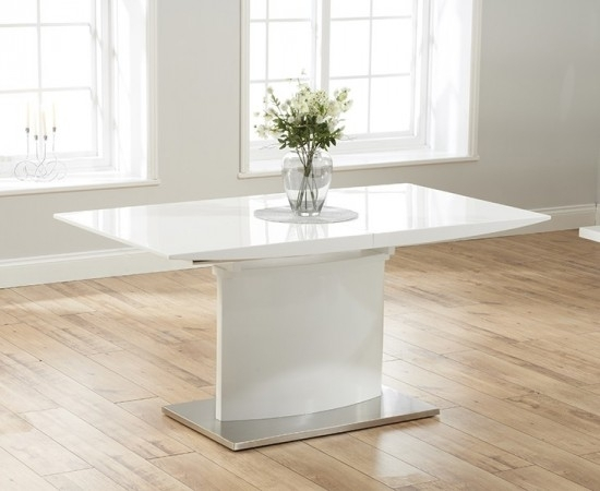 Hayden 160 Cm White High Gloss Extending Dining Table | Morale Home Regarding Hayden Dining Tables (Image 4 of 25)