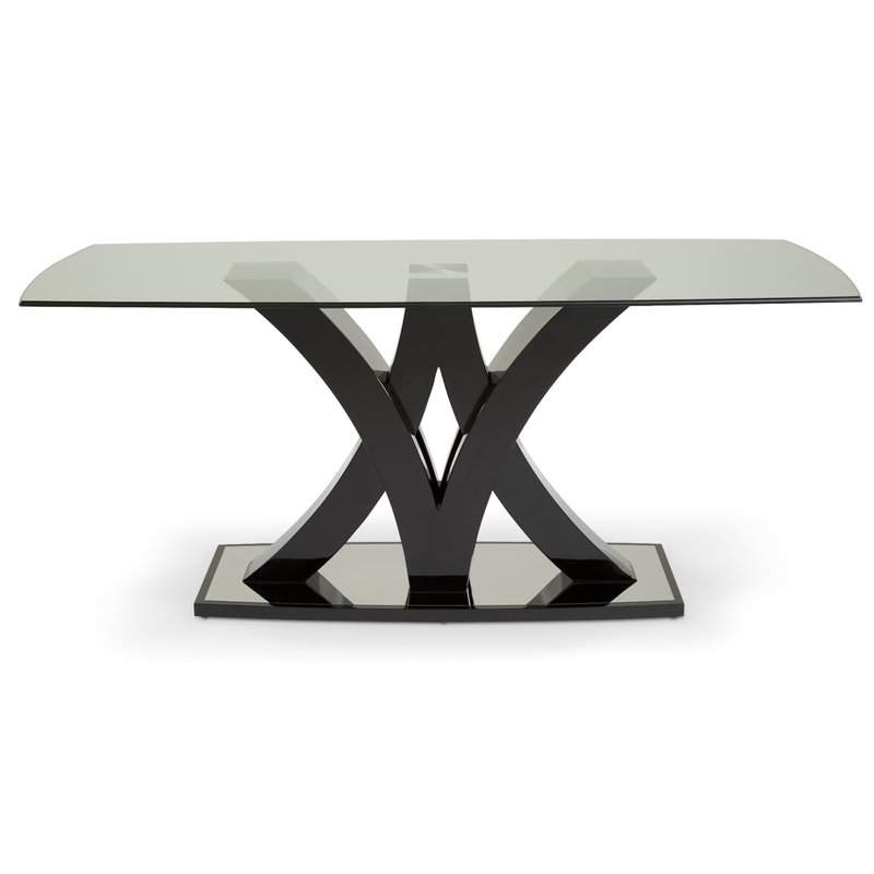 Hazelwood Home Barcelona Contemporary Dining Table | Wayfair.co (Image 20 of 25)