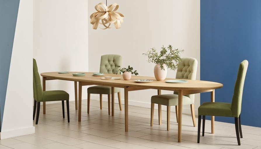 Heal's Ellipse Extending Dining Table 6 – 10 Seater | Heal's With 10 Seat Dining Tables And Chairs (Image 19 of 25)