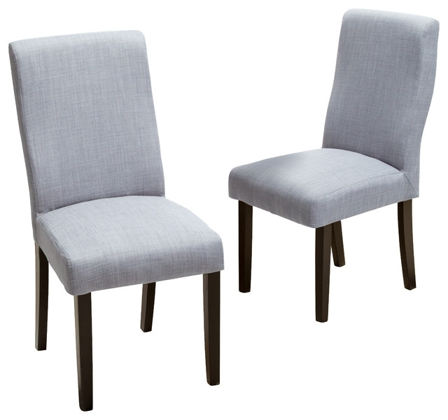 Heath Fabric Dining Chairs, Set Of 2 – Transitional – Dining Chairs With Regard To Grey Dining Chairs (Image 11 of 25)
