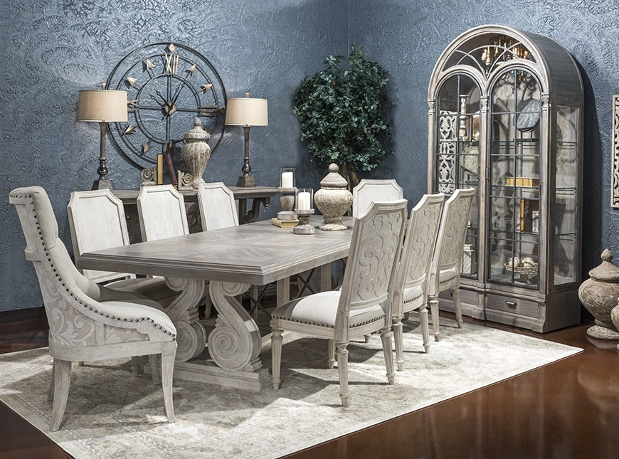 Hemispheres  Dining Category Inside Valencia 72 Inch Extension Trestle Dining Tables (Image 13 of 25)