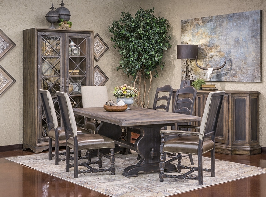 Hemispheres  Dining Category Regarding Valencia 72 Inch Extension Trestle Dining Tables (Image 14 of 25)