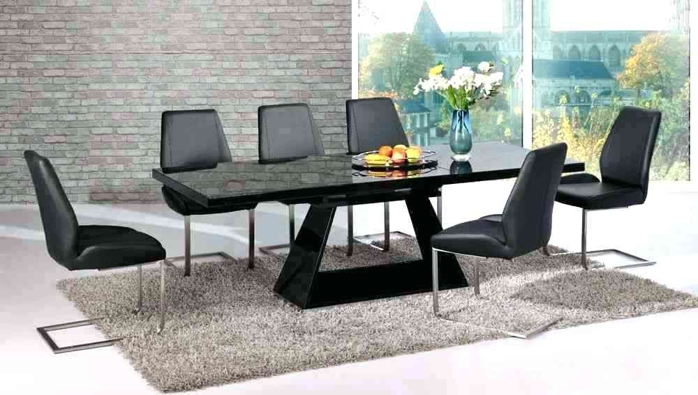 Hi Gloss Dining Table Sets 6 High Gloss Dining Table Set Cream High Throughout Black Extendable Dining Tables Sets (View 12 of 25)