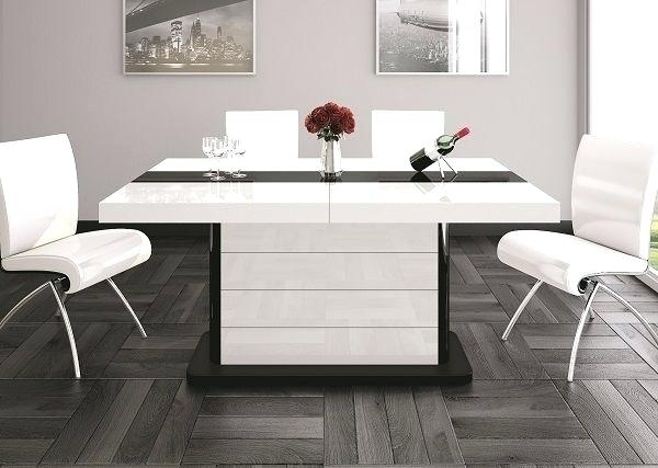Hi Gloss Dining Table Sets 6 High Gloss Dining Table Set Cream High Within Extending Gloss Dining Tables (Image 10 of 25)