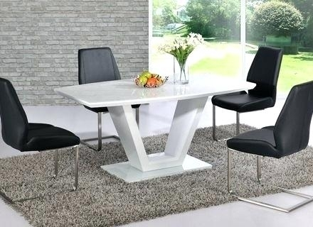 Hi Gloss Dining Table Sets White Gloss Dining Table Grey Chairs Inside Black Gloss Dining Tables And Chairs (Image 12 of 25)