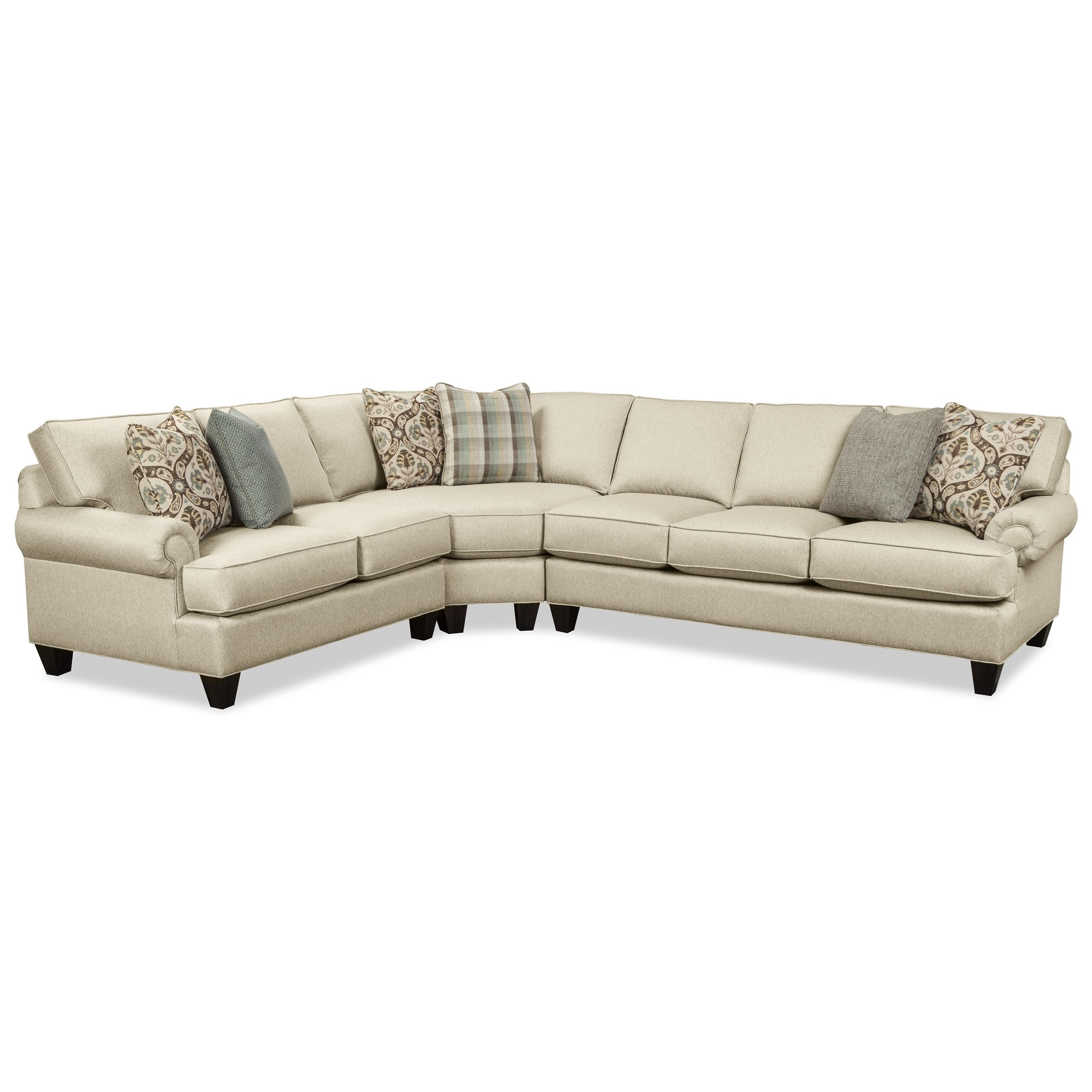 Hickory Craft C9 Custom Collection Customizable Three Piece For Adeline 3 Piece Sectionals (Image 11 of 25)