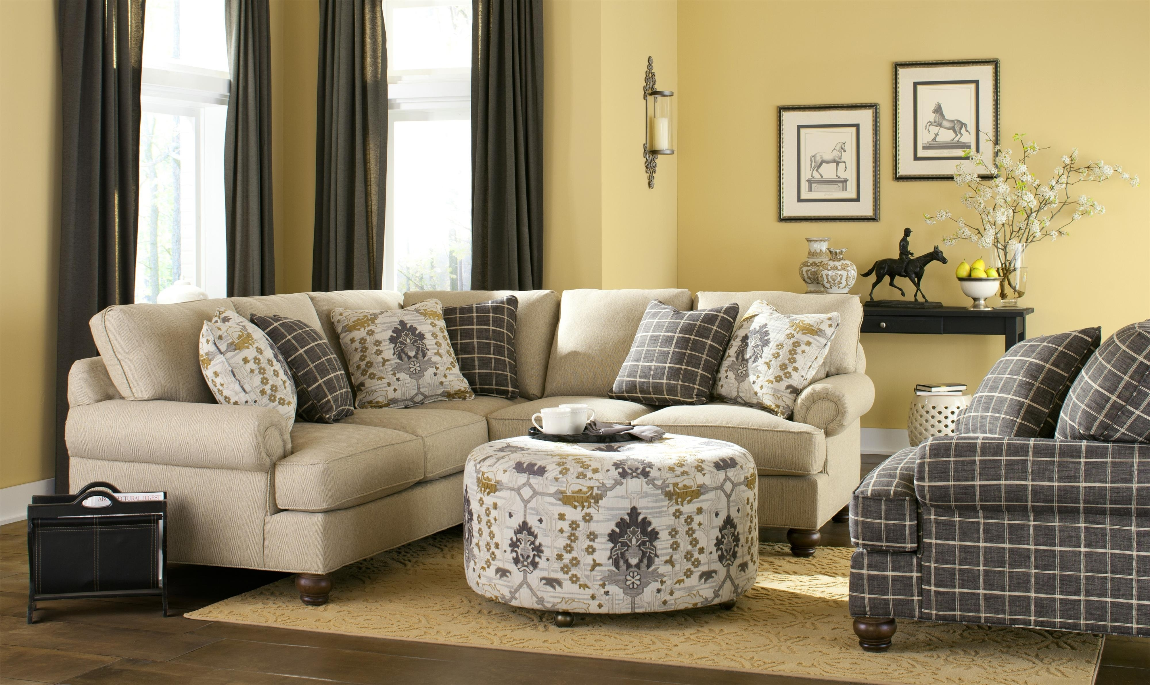 Hickory Craft C9 Custom Collection Display Slightly Different Than Within Adeline 3 Piece Sectionals (Image 12 of 25)