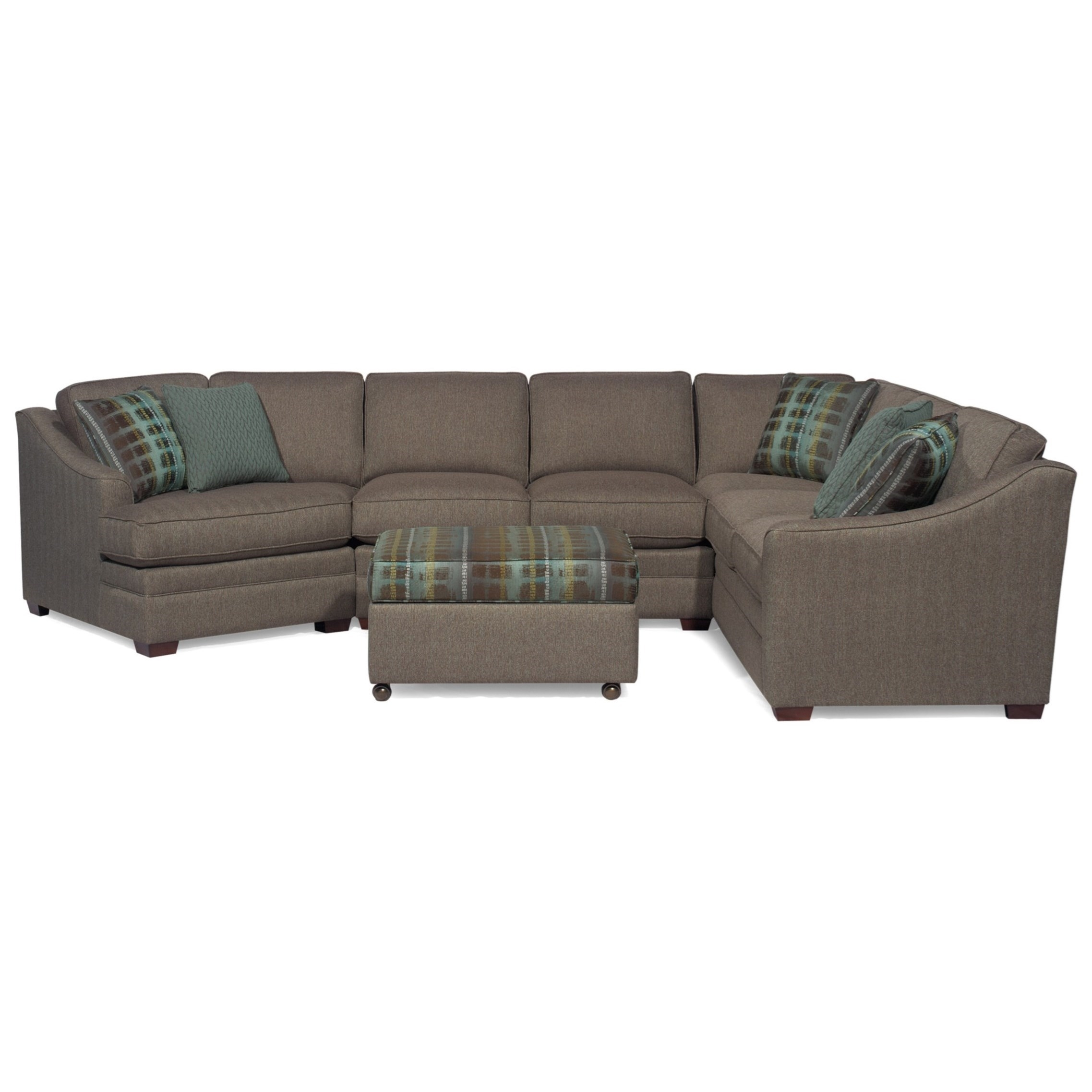 Hickory Craft F9 Custom Collection <B>Customizable</b> 3 Piece Throughout Avery 2 Piece Sectionals With Raf Armless Chaise (Image 14 of 25)