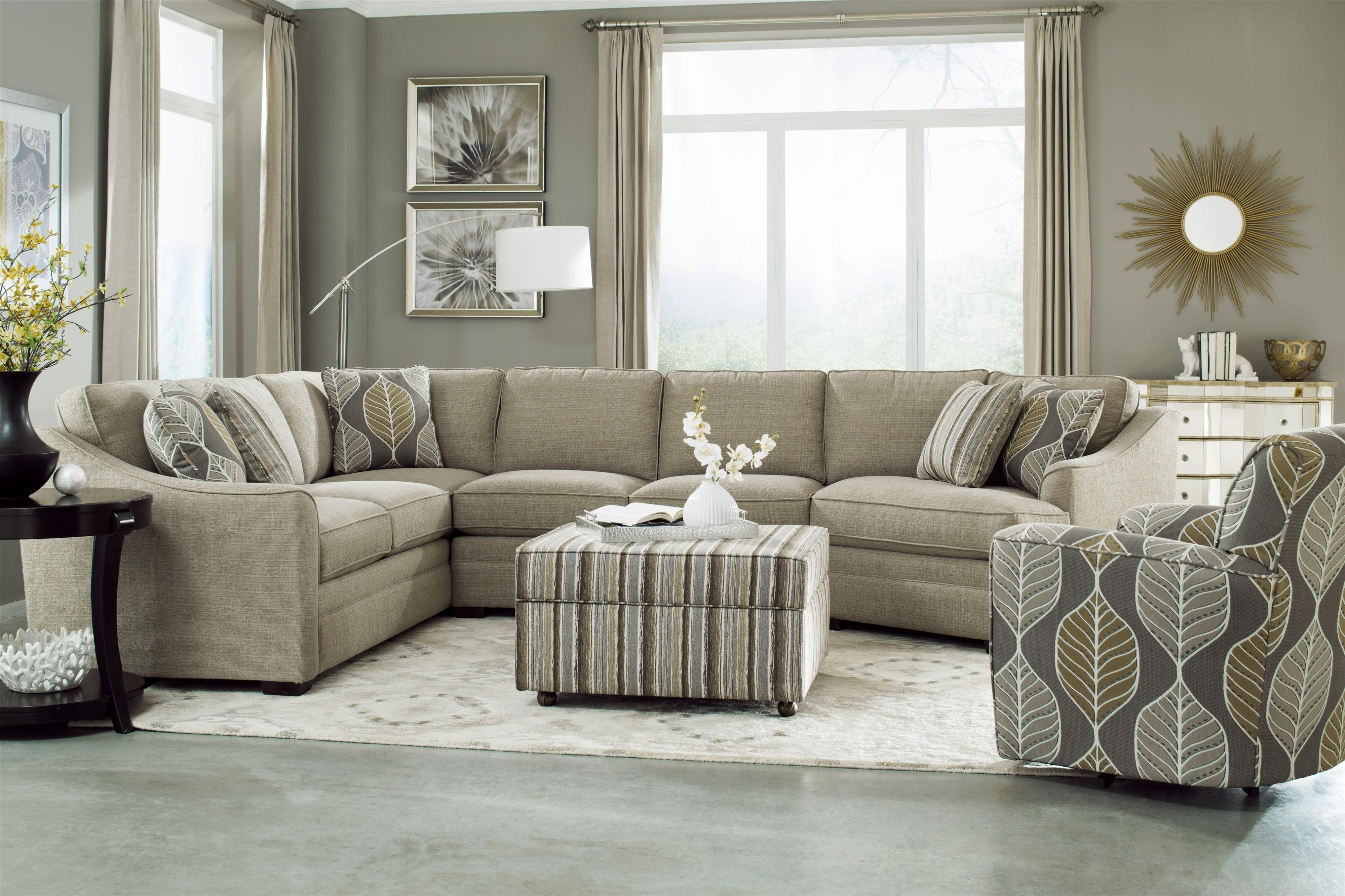 Hickory Craft F9 Custom Collection <B>Customizable</b> 3 Piece Within Adeline 3 Piece Sectionals (Photo 14 of 25)