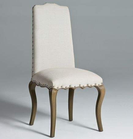 High Back Dining Chairs | Linen Dining Chair | Solid Linen Dining Inside High Back Dining Chairs (Image 11 of 25)