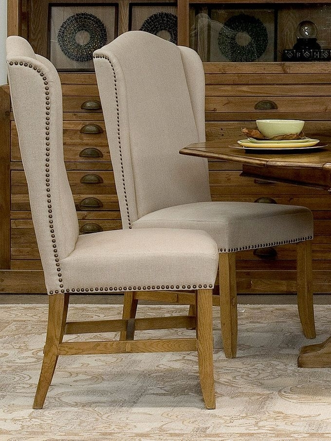 High Back Dining Chairs (Set Of 2) From Living In Linen: Furniture Regarding High Back Dining Chairs (Image 10 of 25)