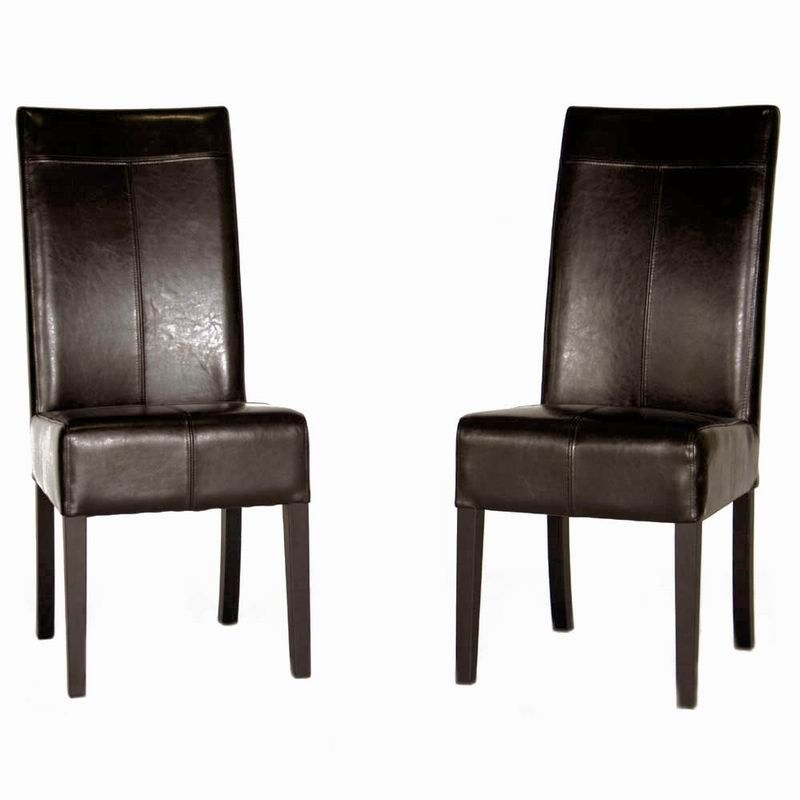 Featured Photo of High Back Leather Dining Chairs