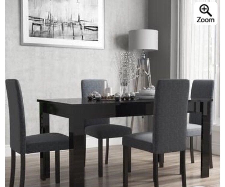 High Black Gloss Dining Table Extendable | In Botley, Hampshire With Black Gloss Dining Tables And Chairs (Image 13 of 25)