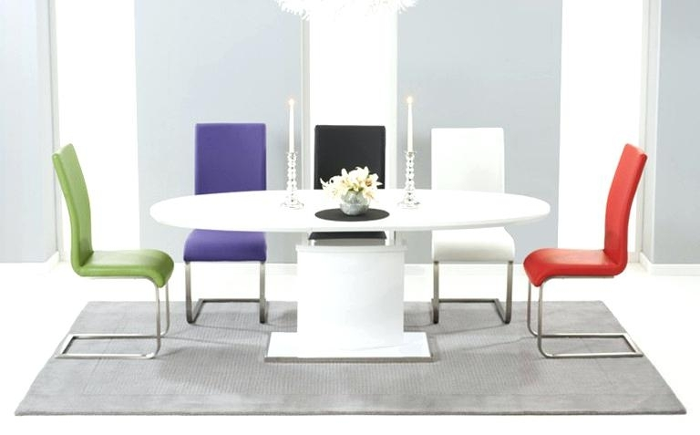 High Gloss Dining High Gloss Dining Table In Grey Or White Special With Round High Gloss Dining Tables (Image 15 of 25)