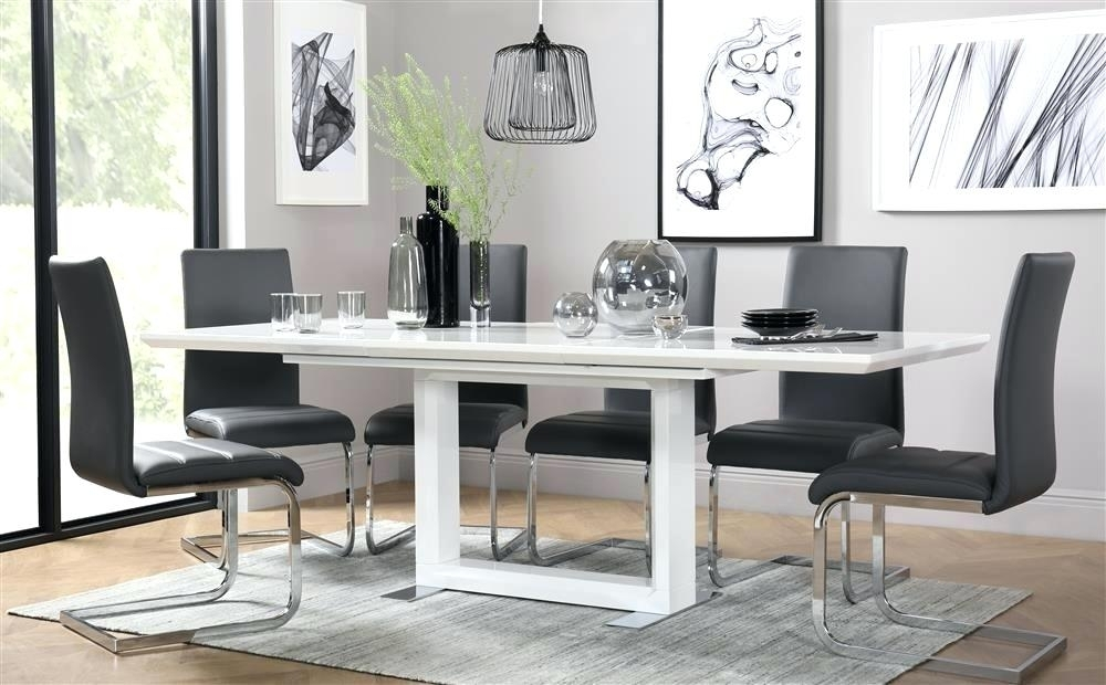 High Gloss Dining Table Sets Amp Extending White High Gloss Dining Intended For Black High Gloss Dining Tables And Chairs (Image 16 of 25)