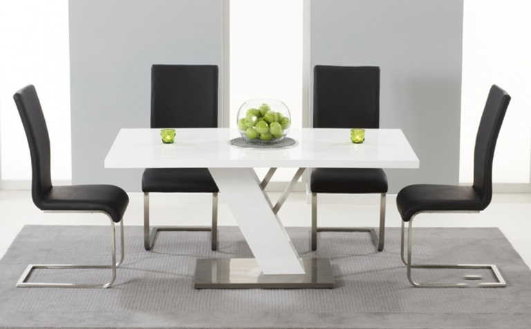 High Gloss Dining Table Sets | Great Furniture Trading Company | The For Gloss White Dining Tables And Chairs (View 11 of 25)
