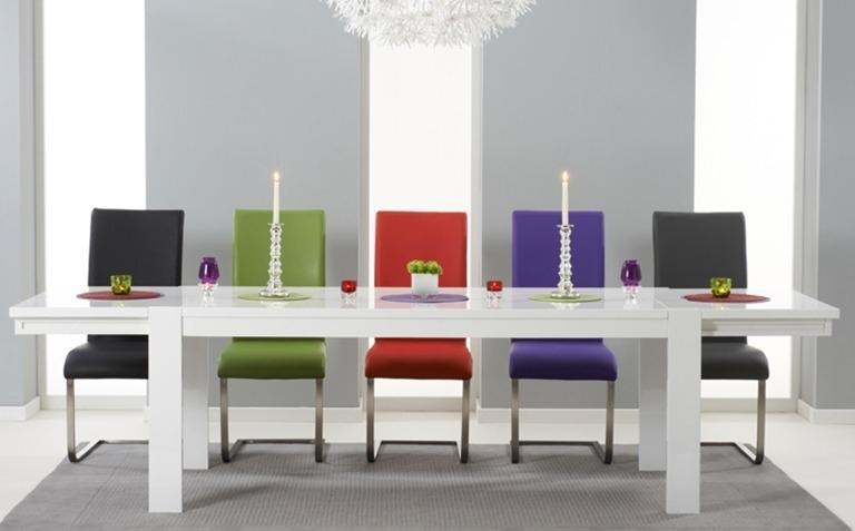 High Gloss Dining Table Sets | Great Furniture Trading Company | The In Shiny White Dining Tables (Image 18 of 25)