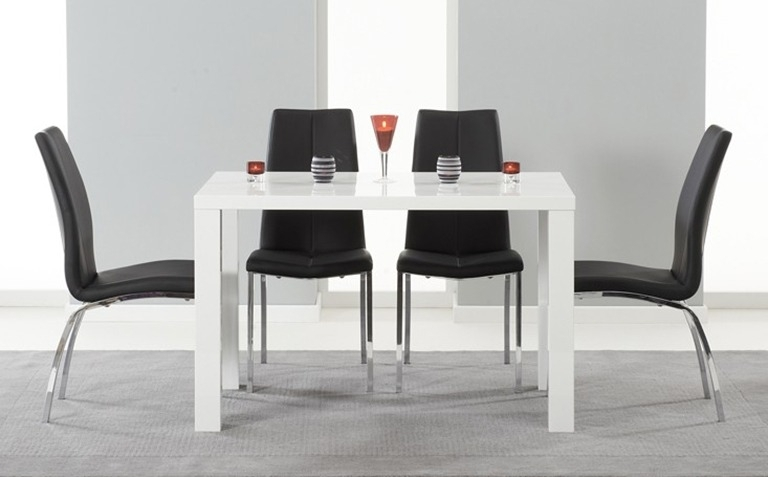 High Gloss Dining Table Sets | Great Furniture Trading Company | The throughout High Gloss White Dining Chairs