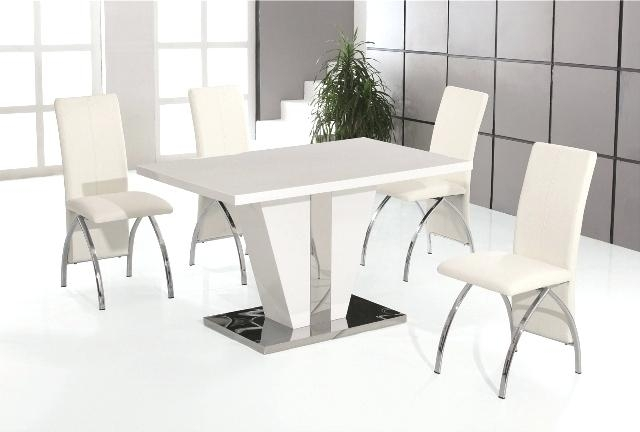 High Gloss Dining Table Sets High Gloss Dining Table Set Click To With Regard To White High Gloss Dining Tables And Chairs (View 25 of 25)