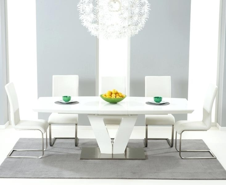 High Gloss Dining Table Sets High Gloss Extending Dining Table Sets Inside Extending Gloss Dining Tables (Image 11 of 25)