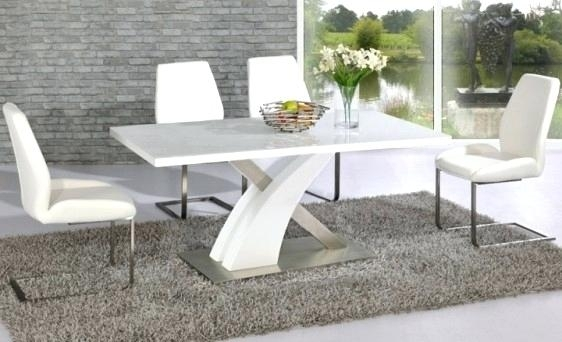 High Gloss Dining Table Sets White Gloss Dining Table And Chairs For White High Gloss Dining Tables (Image 12 of 25)