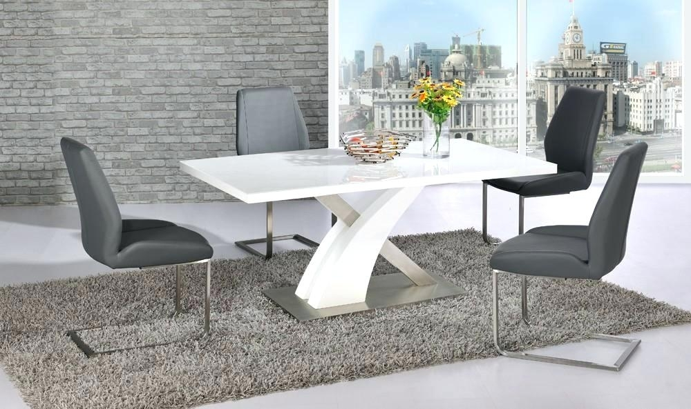 High Gloss Kitchen Table And Chairs – Sabrinandco With Cream Gloss Dining Tables And Chairs (Image 15 of 25)
