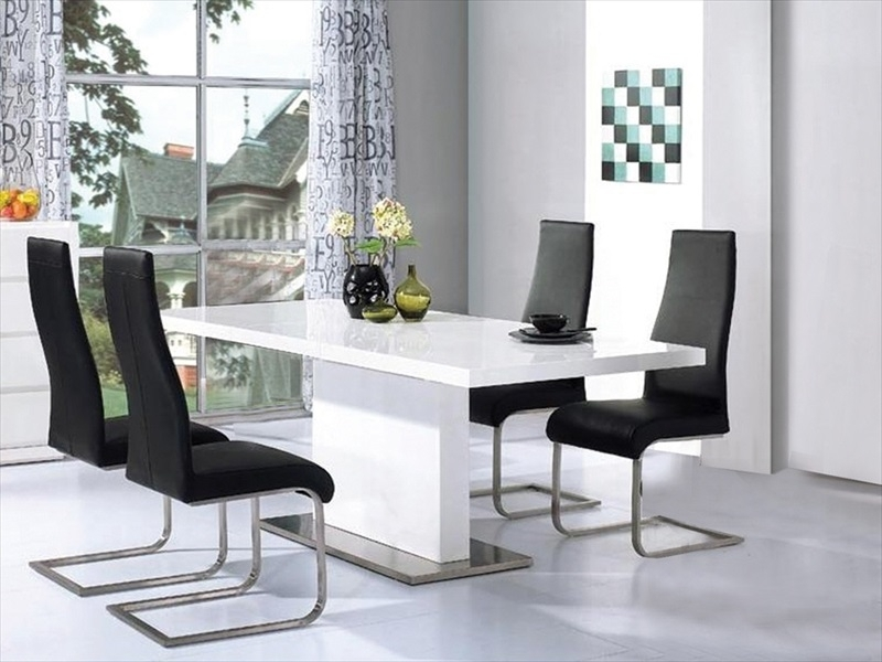 High Gloss Tables & Chairs : Tbs Discount Furniture, A Large For Black Gloss Dining Furniture (Image 12 of 25)