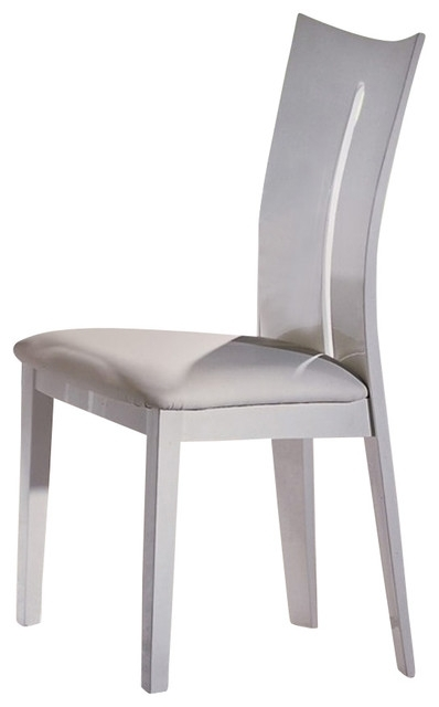High Gloss White Dining Chairs, Set Of 2 – Modern – Dining Chairs Throughout High Gloss White Dining Chairs (View 4 of 25)