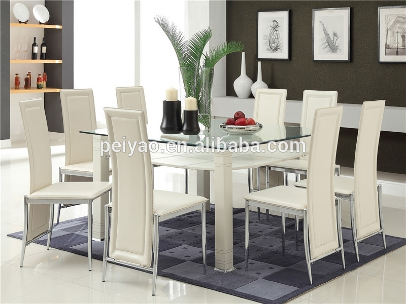 High Quality Glass Dining Table 6 Chairs Set – Buy Purple Dining Regarding Glass Dining Tables Sets (View 10 of 25)