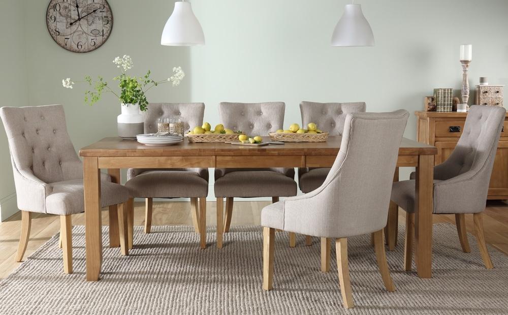 Highbury Oak Extending Dining Room Table & 4 6 8 Duke Chairs Set Regarding Oak Extending Dining Tables And 6 Chairs (Image 13 of 25)