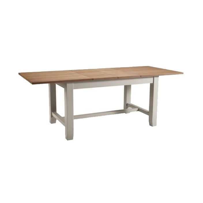 Highgrove Extending Shabby Chic Dining Table | Homesdirect365 With Shabby Chic Extendable Dining Tables (View 8 of 25)