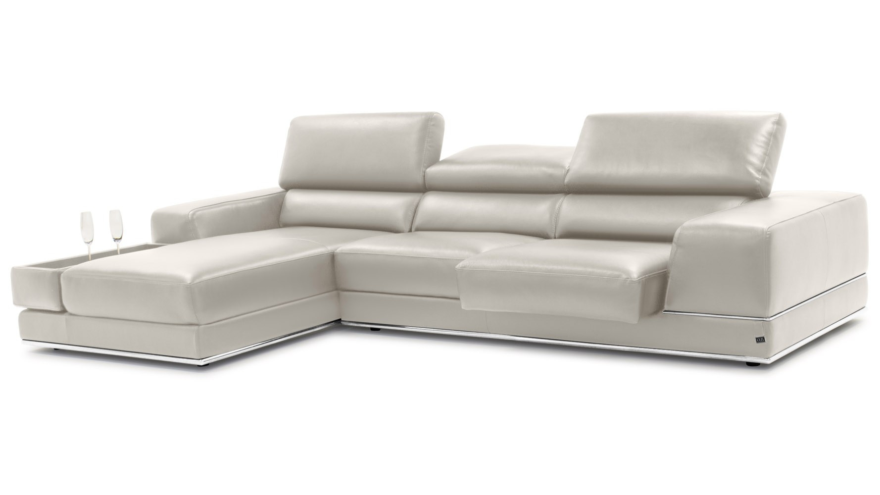 Hilarious Grey Full Italian Lear Sectional Sofa Grey Lear Sectional With Tenny Dark Grey 2 Piece Right Facing Chaise Sectionals With 2 Headrest (View 14 of 25)