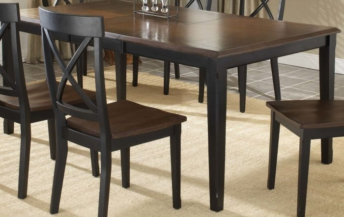 """Hillsdale Englewood Rectangle Dining Table With 18"""" Butterfly Leaf Throughout Carly Rectangle Dining Tables (Image 17 of 25)"""