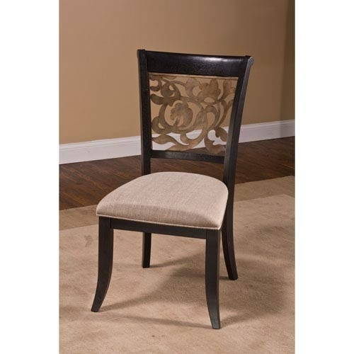 Hillsdale Furniture Bennington Black Dining Chair, Set Of 2 100020 Intended For Dining Chairs (Image 14 of 25)