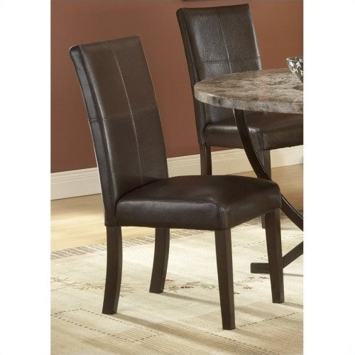 Hillsdale Monaco Leather Parson Dining Chair In Espresso (Set Of 2 Pertaining To Monaco Dining Sets (View 14 of 25)