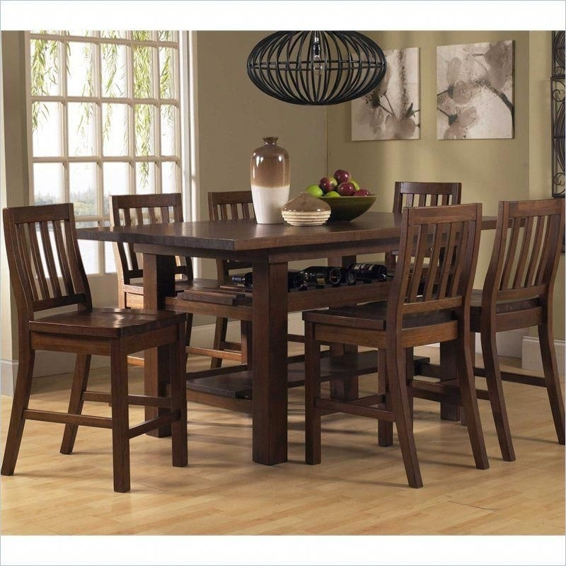Hillsdale Outback 7 Piece Counter Height Dining Set - 4321Ctbs7 inside Harper 5 Piece Counter Sets