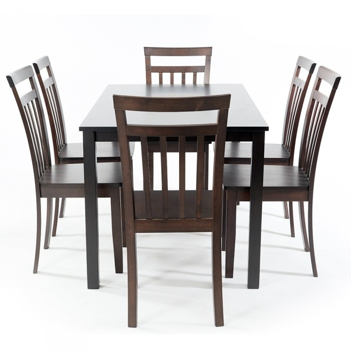 Hockee 1+6 Dining Set, Table And 6 Chairs (Hockee0004) With Regard To Helms 6 Piece Rectangle Dining Sets (View 3 of 25)