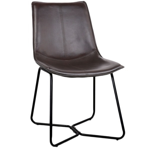 Hoffman Faux Leather Dining Chairs | Temple & Webster regarding Leather Dining Chairs