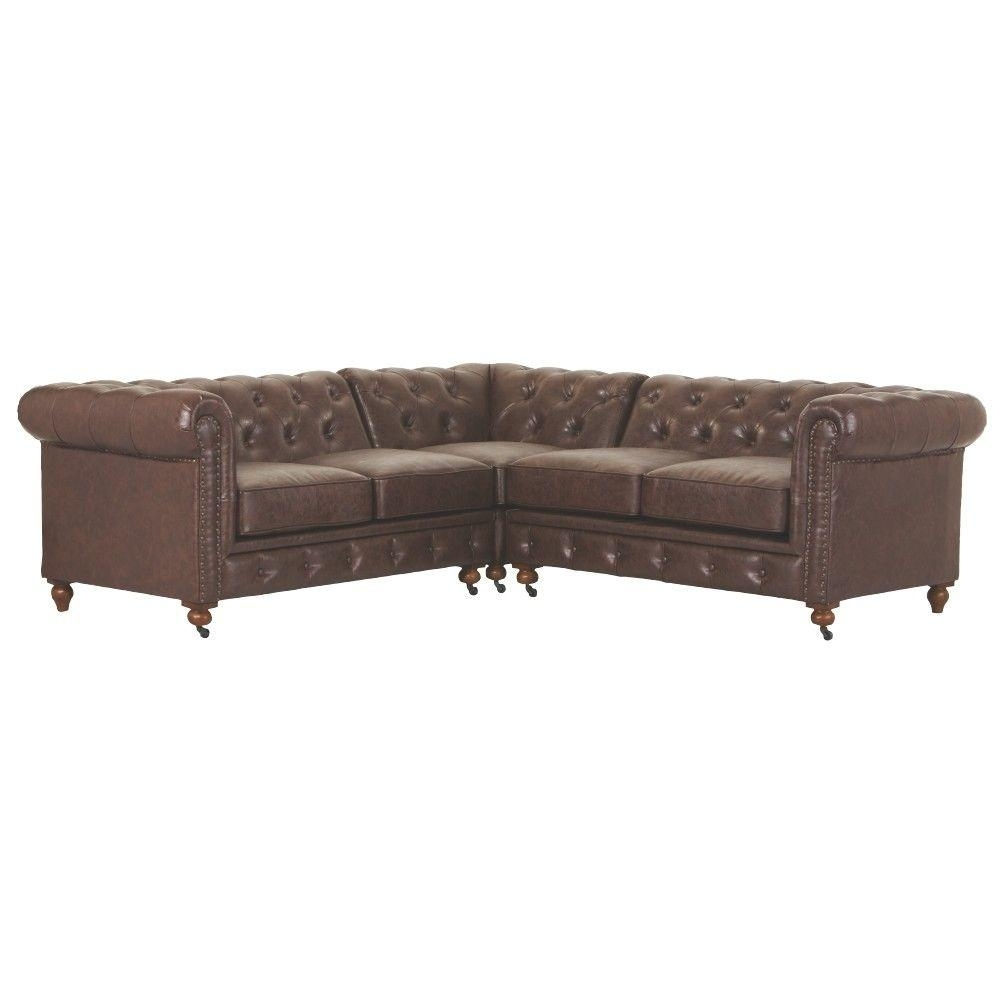 Home Decorators Collection Gordon 3 Piece Natural Linen Sectional Regarding Gordon 3 Piece Sectionals With Raf Chaise (Image 10 of 25)