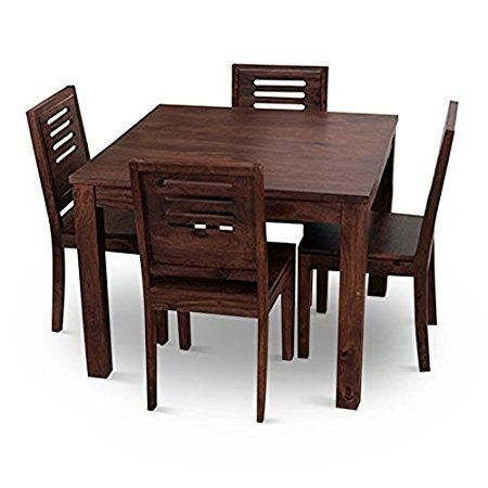 Home Edge Solid Wood 4 Seater Wooden Dining Table Set, Rs 13800 Inside Wooden Dining Sets (View 4 of 25)