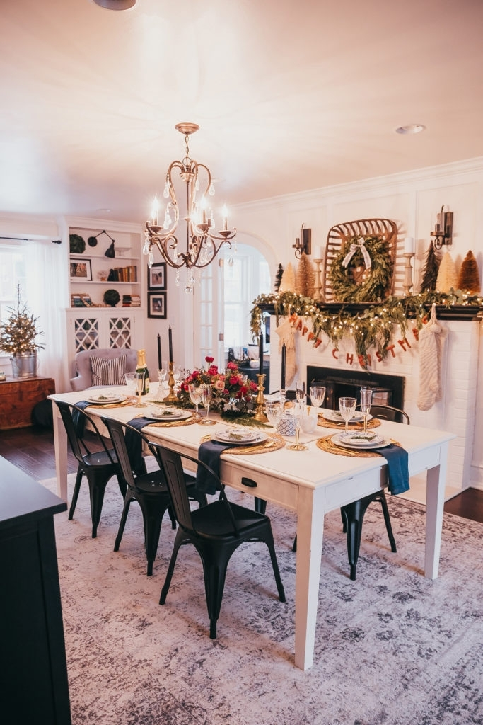 Home For The Holidays Christmas Eve Dinner | Cotton&cashmere Intended For Magnolia Home Keeping Dining Tables (View 14 of 25)